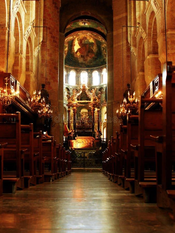 教会内部看法在图卢兹法国 库存图片