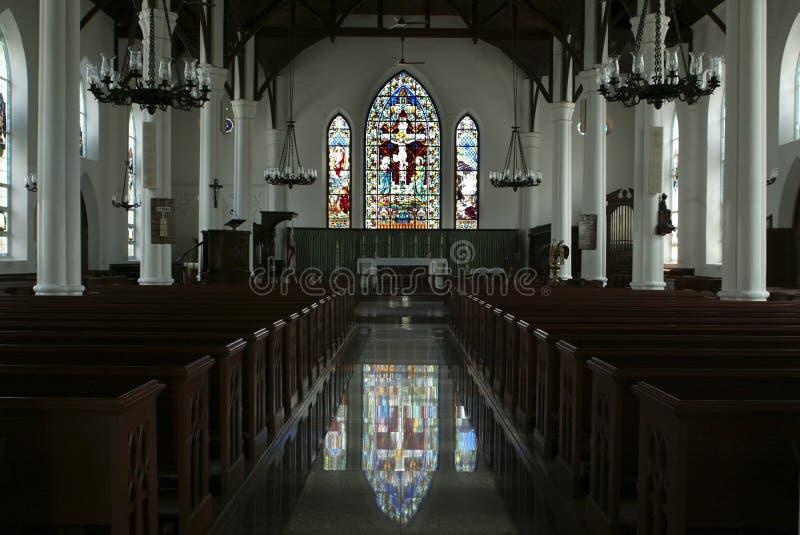 教会内部 免版税库存图片
