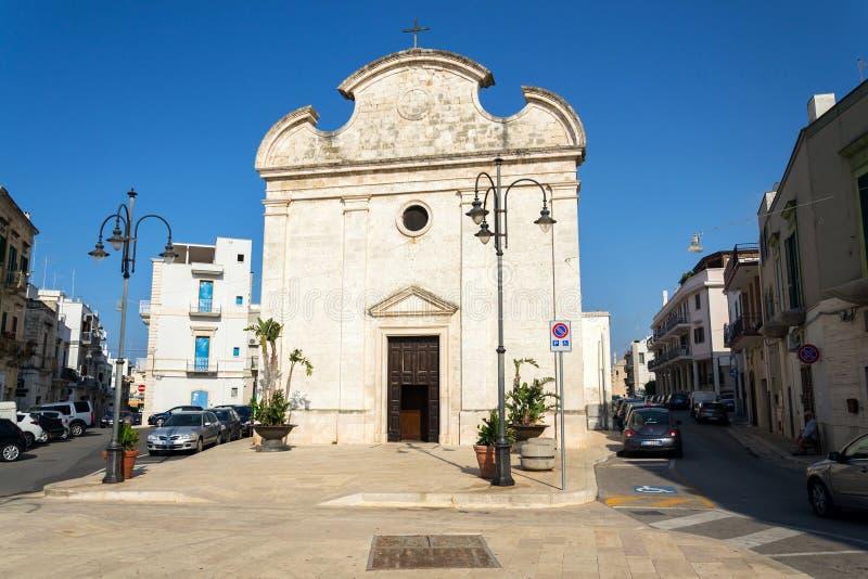 教会切萨della特里尼塔在波利尼亚诺阿马雷,意大利 免版税库存照片