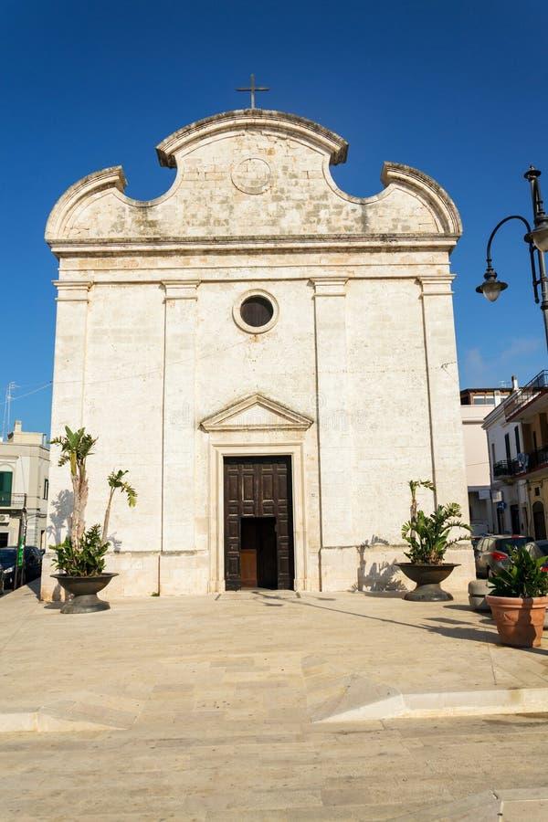 教会切萨della特里尼塔在波利尼亚诺阿马雷,意大利 库存照片