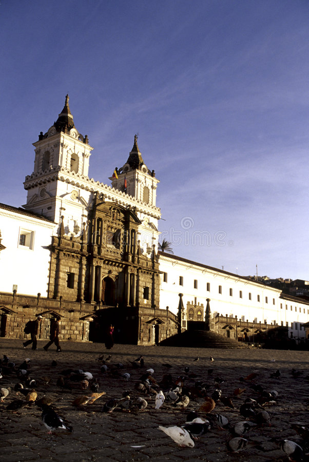 教会厄瓜多尔基多 免版税图库摄影