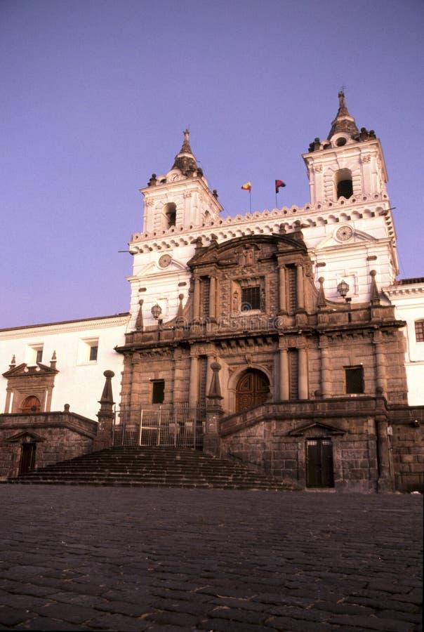 教会厄瓜多尔基多 免版税库存图片