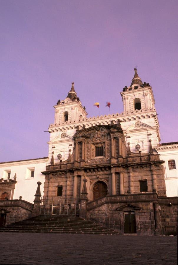 教会厄瓜多尔 库存图片