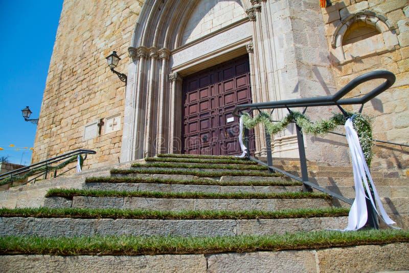 教会台阶 图库摄影