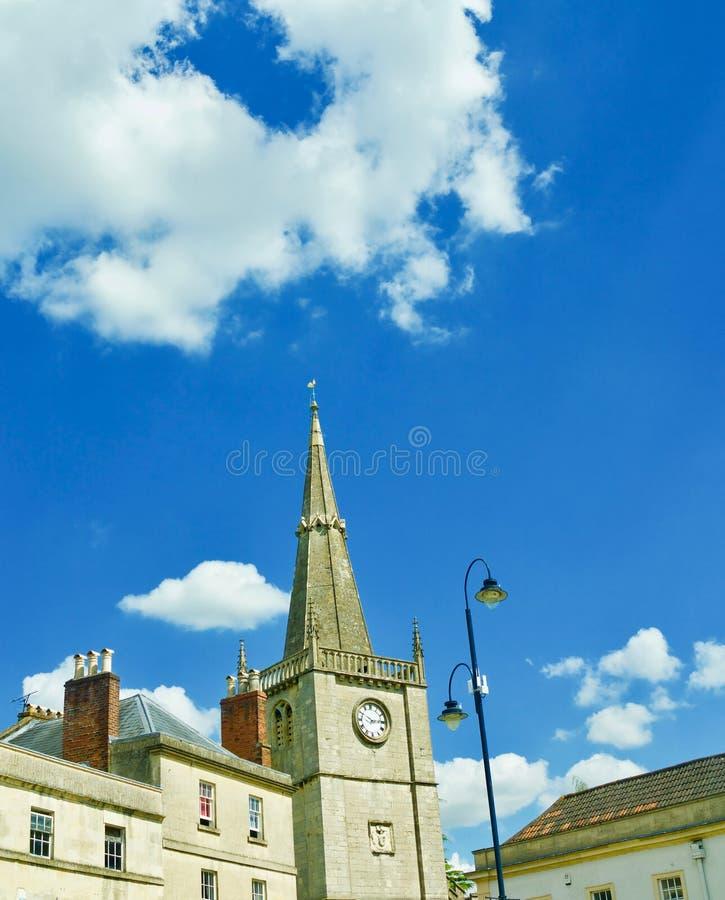 教会和云彩 库存照片