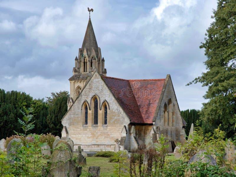 教会和坟园 库存图片
