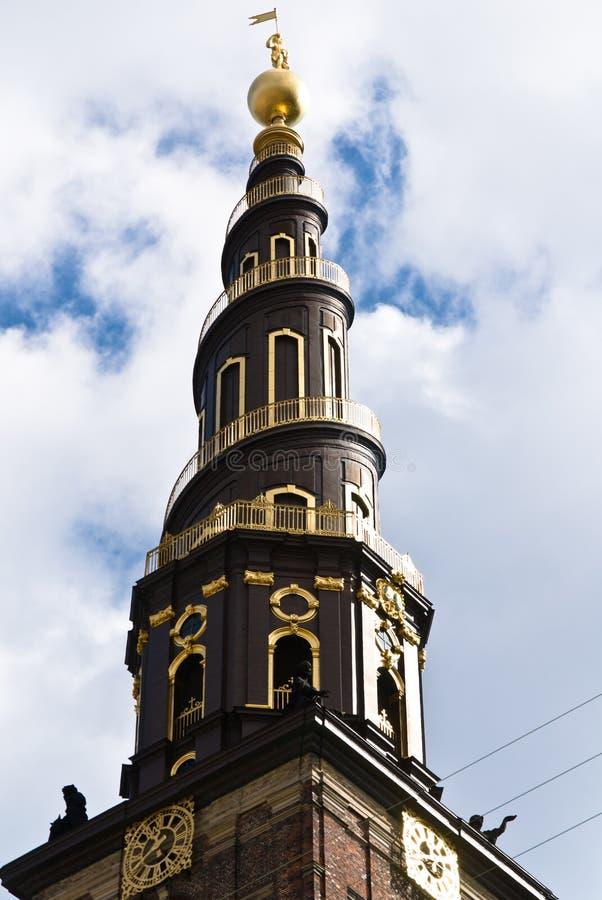 教会哥本哈根丹麦我们的救主 库存图片