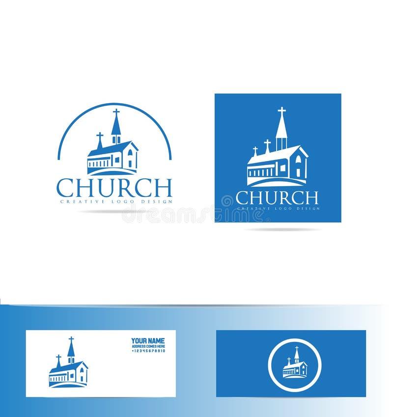 教会商标 向量例证