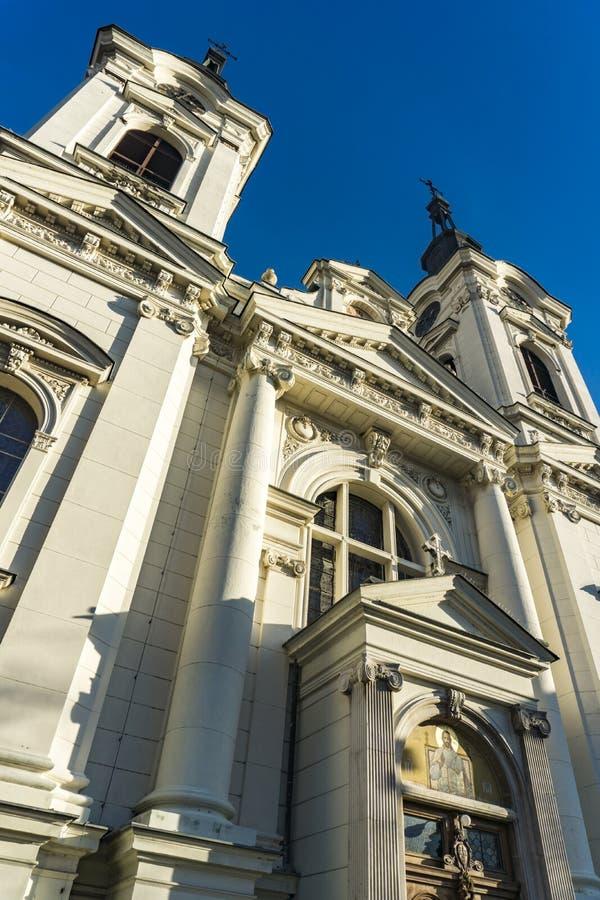 教会圣尼古拉在斯雷姆斯基卡尔洛夫奇,塞尔维亚 库存照片