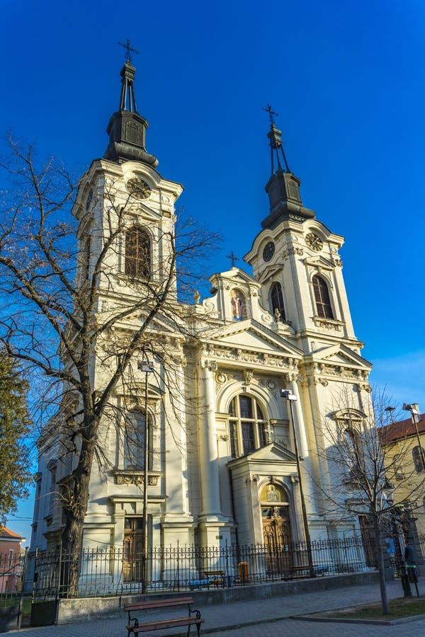 教会圣尼古拉在斯雷姆斯基卡尔洛夫奇,塞尔维亚 免版税库存照片