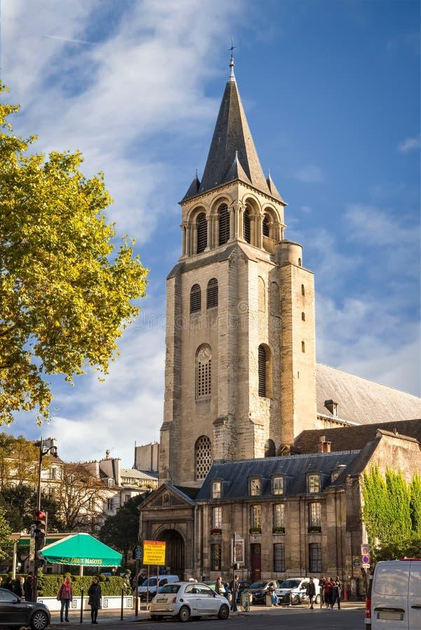 教会圣日尔曼队des Pres 免版税库存图片