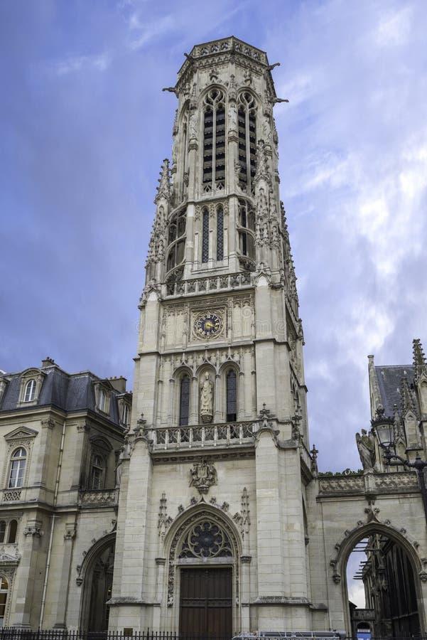 教会圣日耳曼l ` Auxerrois在巴黎法国 库存照片