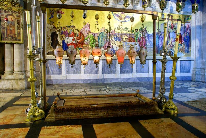教会圣洁坟墓 图库摄影