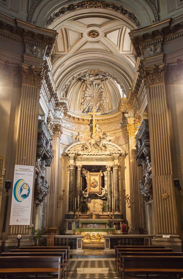教会圣玛丽亚 del piazza popolo 意大利罗马 免版税库存图片