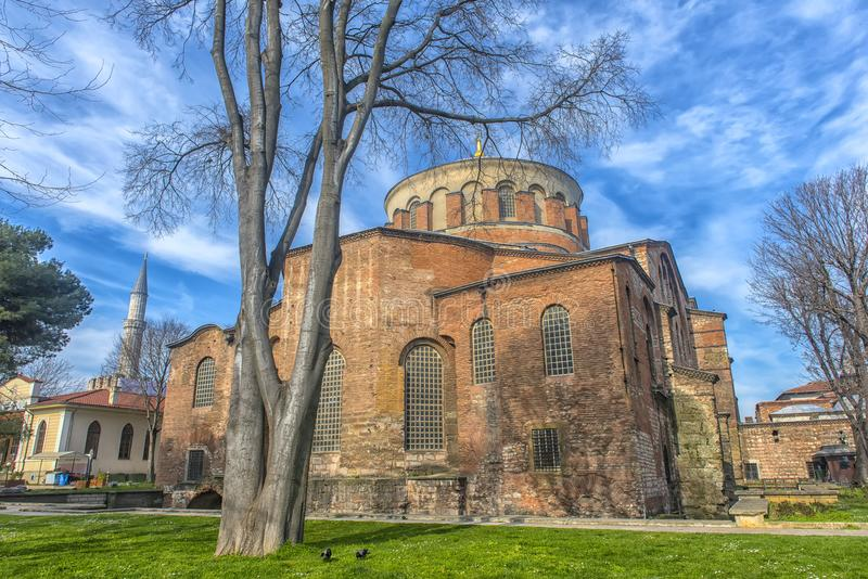 教会圣艾琳-其中一个最早期的生存教会 库存图片