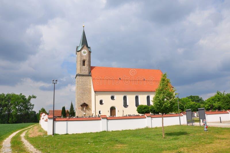 教会圣西蒙和Judas Thaddï ¿ ½我们在Moos (Kurzenisarhofen),巴伐利亚 库存照片