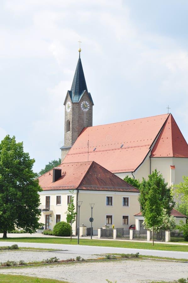 教会圣西蒙和Judas Thaddï ¿ ½我们在Moos (Kurzenisarhofen),巴伐利亚 库存图片