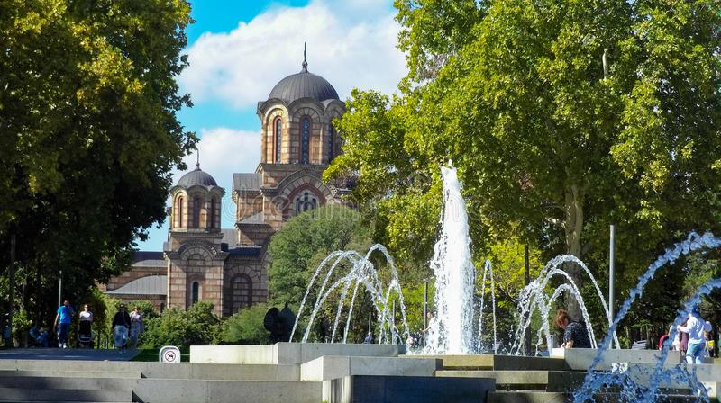 教会圣马克,贝尔格莱德 免版税库存照片