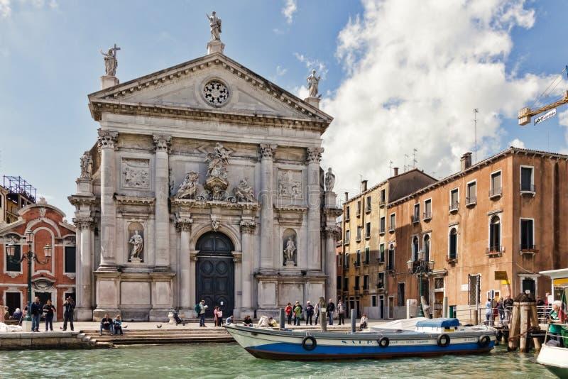 教会圣stae威尼斯 免版税图库摄影