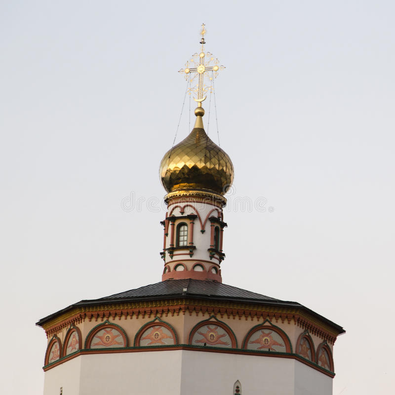 教会在伊尔库次克,俄联盟 免版税库存图片