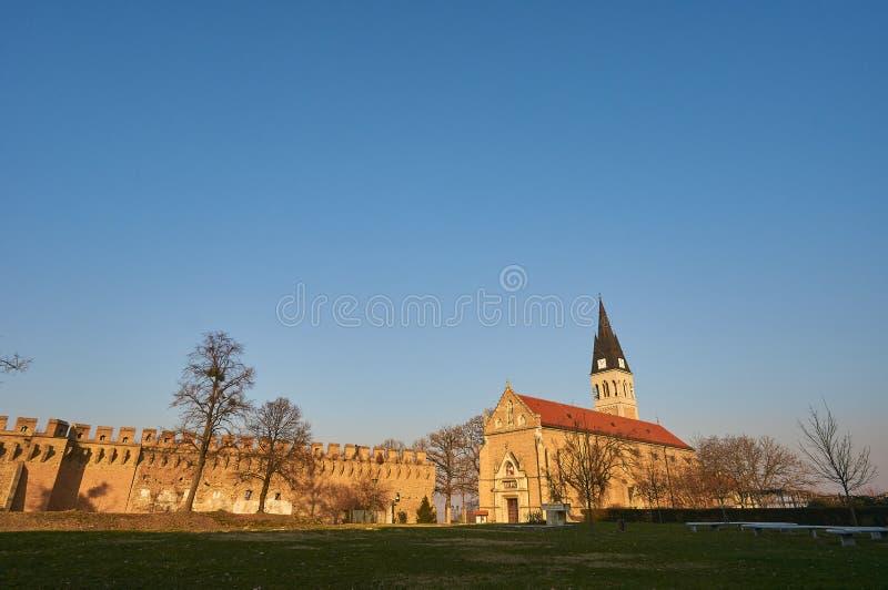教会在伊洛克 免版税库存图片
