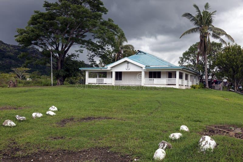 教会在农村斐济 库存照片