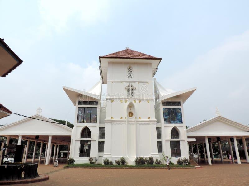 教会在喀拉拉,印度 库存图片