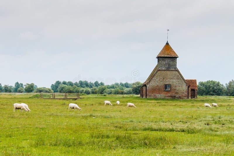 教会在小牧场 免版税库存照片