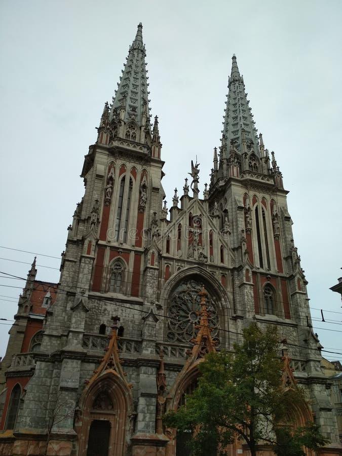 教会在市基辅在乌克兰 免版税图库摄影
