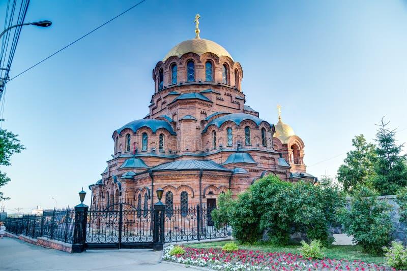 教会在新西伯利亚,俄罗斯 免版税库存图片