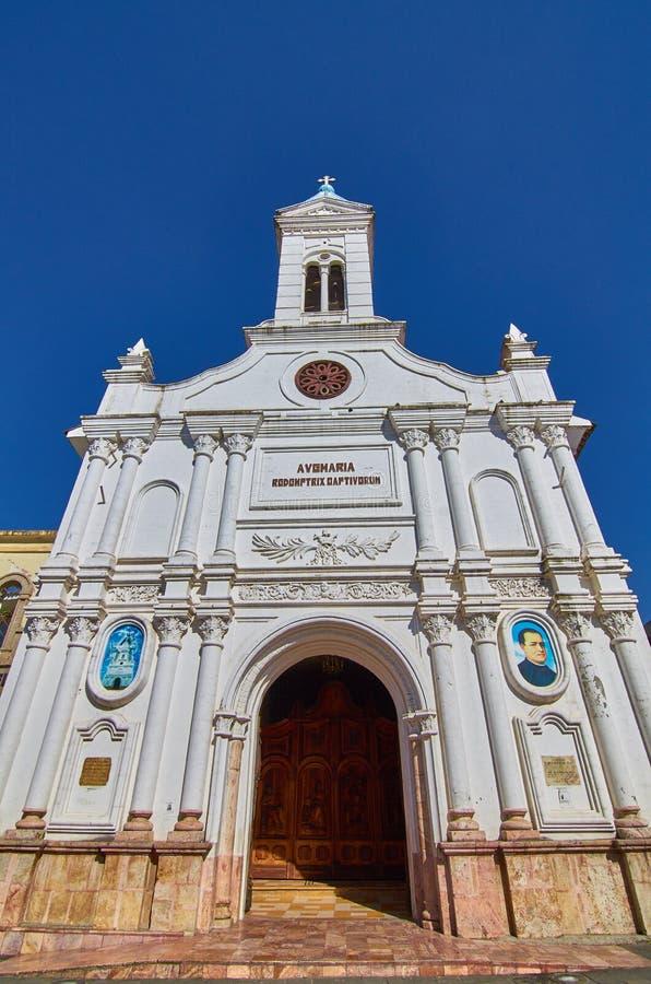 教会在昆卡省 免版税库存图片