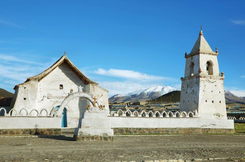 教会在火山伊斯卢加火山国家公园 免版税库存图片