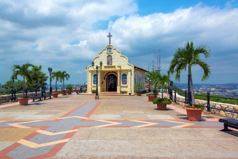 教会在瓜亚基尔,厄瓜多尔 库存照片