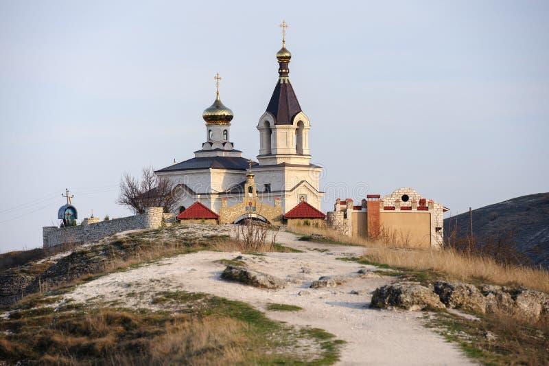 教会在老奥尔海伊,摩尔多瓦 免版税库存图片