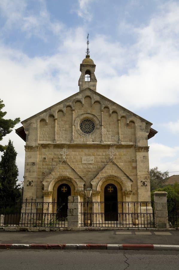 教会在耶路撒冷 免版税库存图片