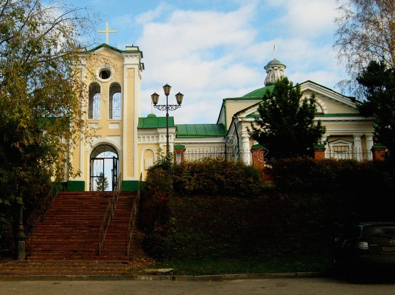 教会在西伯利亚市托木斯克 库存图片