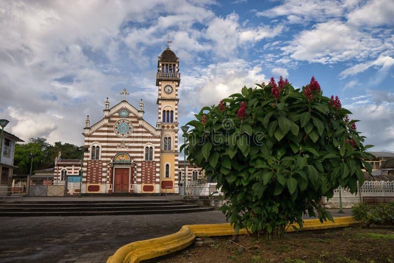 教会在阿齐多纳厄瓜多尔 免版税图库摄影