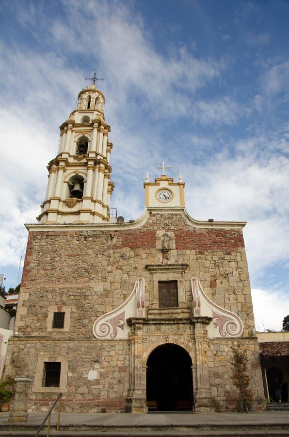 教会在Ajijic,墨西哥 库存图片