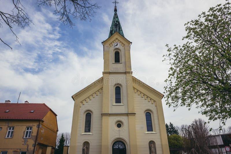 教会在Dubnany 库存照片