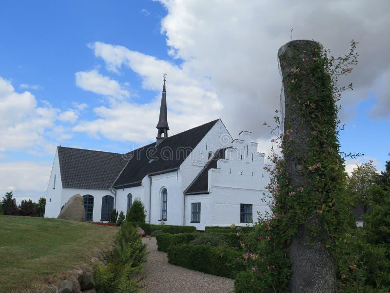 教会在Egen,丹麦 免版税库存照片