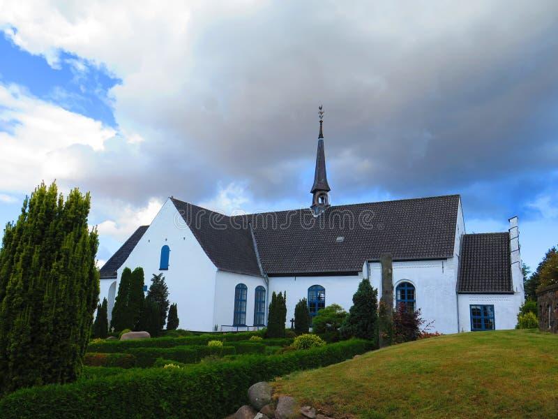 教会在Egen,丹麦 库存图片