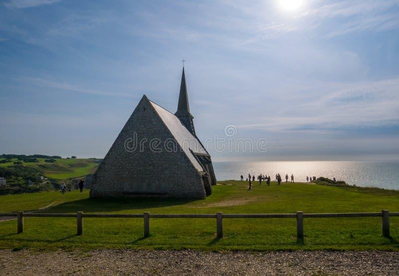 教会在Etretat 免版税库存照片