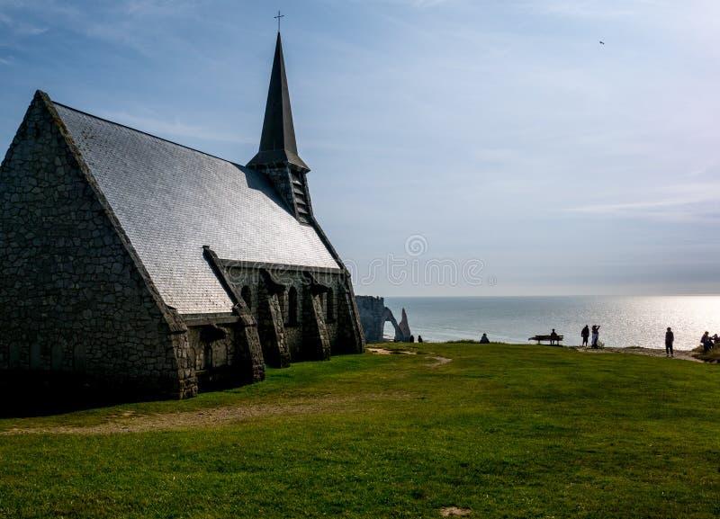 教会在Etretat 免版税图库摄影