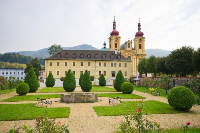 教会在Hejnice,捷克 库存照片