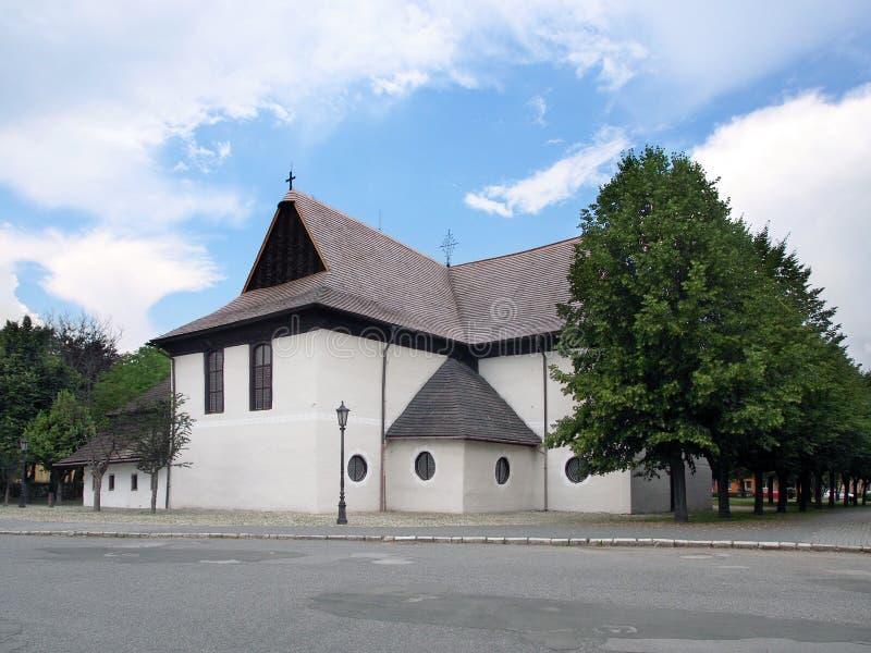 教会在Kezmarok,联合国科教文组织遗产 图库摄影