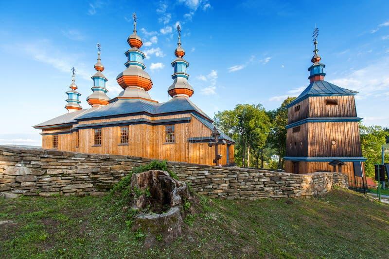教会在Komancza,波兰 免版税图库摄影