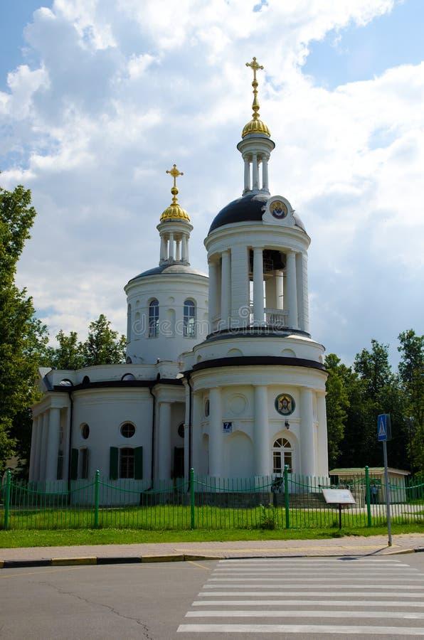 教会在Kuzminki 免版税库存图片