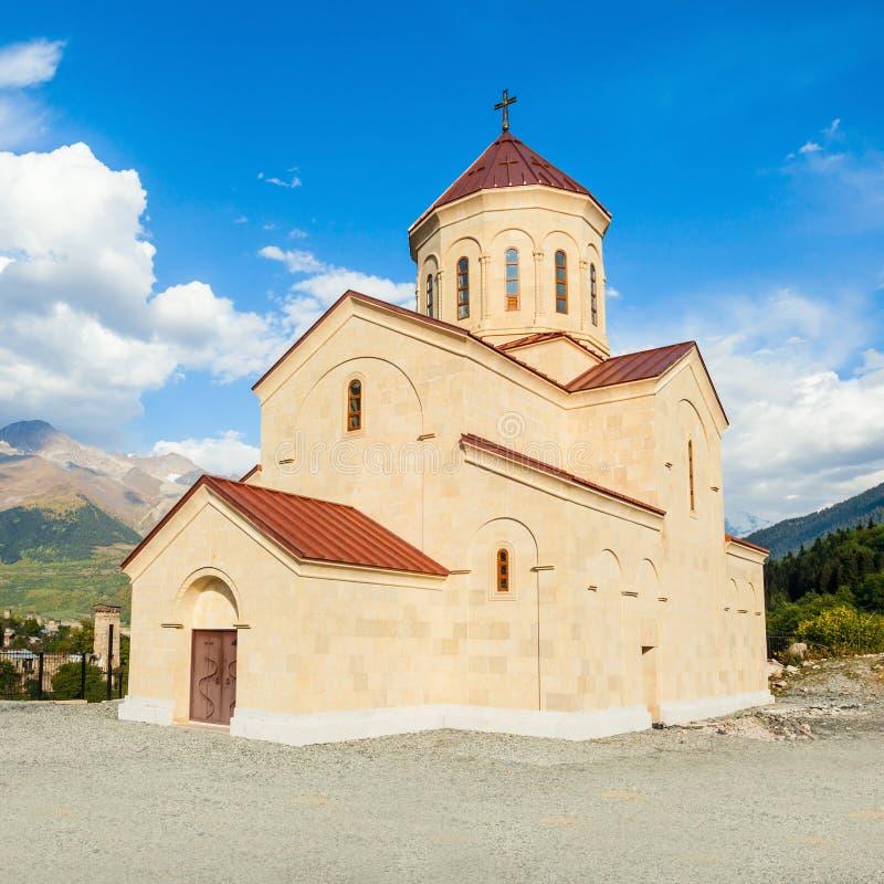 教会在Mestia 库存图片