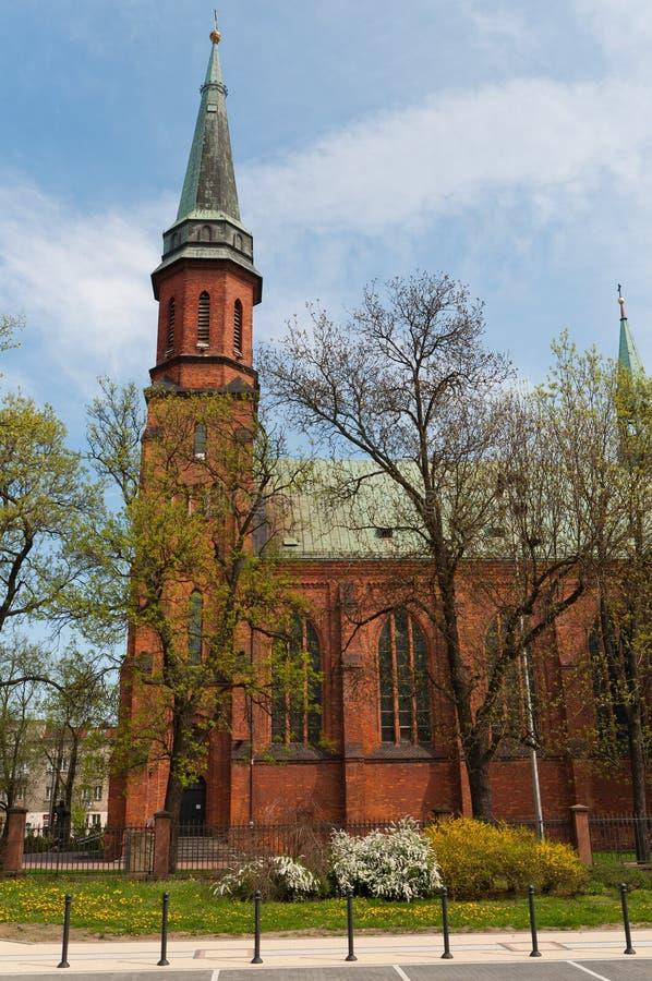 教会在Pruszkow -波兰 免版税库存照片