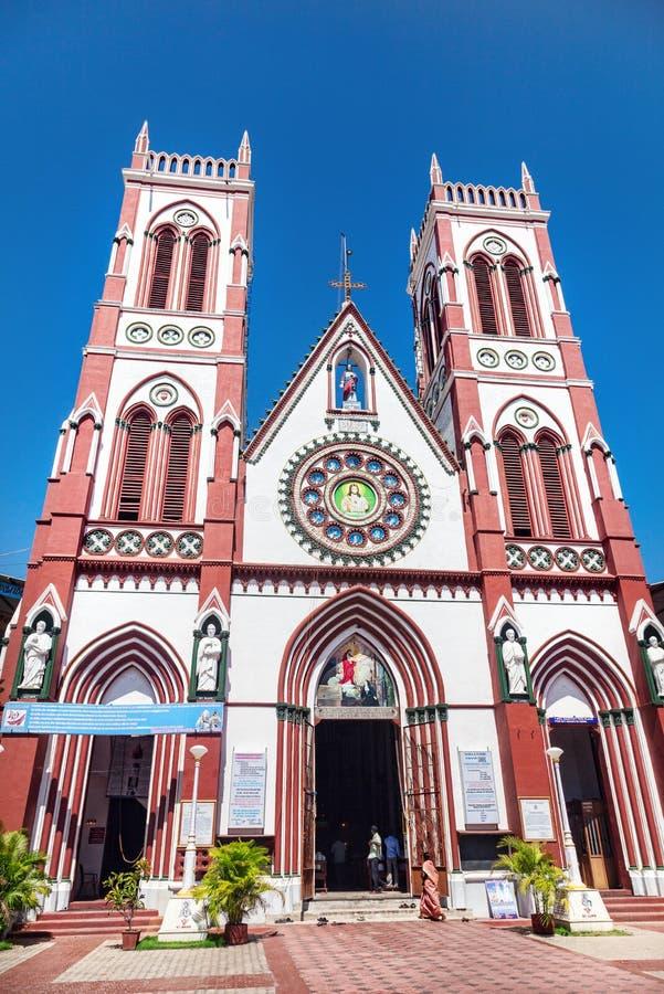 教会在Puducherry 库存照片